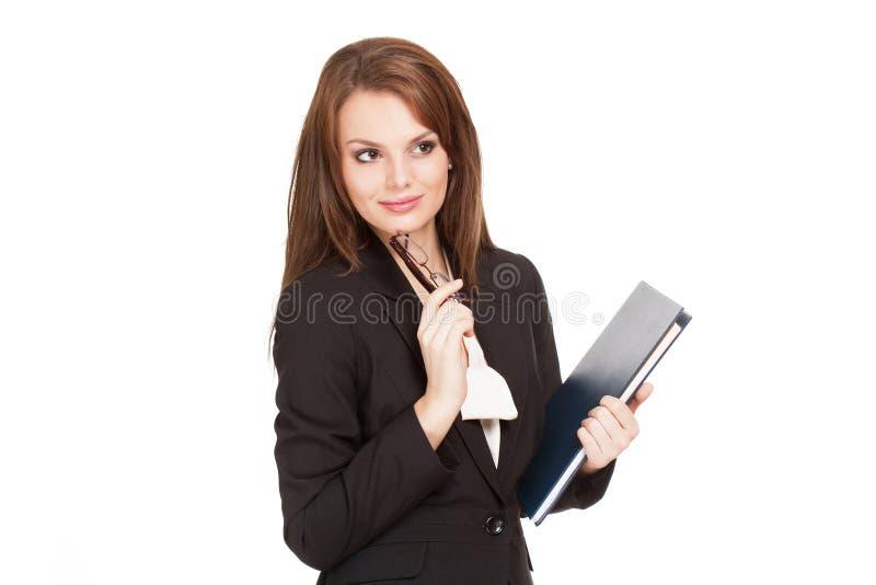 Belle jeune femme d'affaires fraîche. images stock