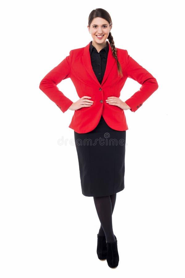 Belle jeune femme dans le vêtement d'affaires images stock