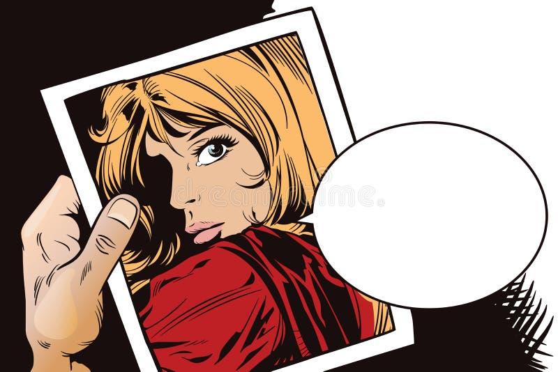 Belle jeune femme de portrait Illustration courante illustration libre de droits