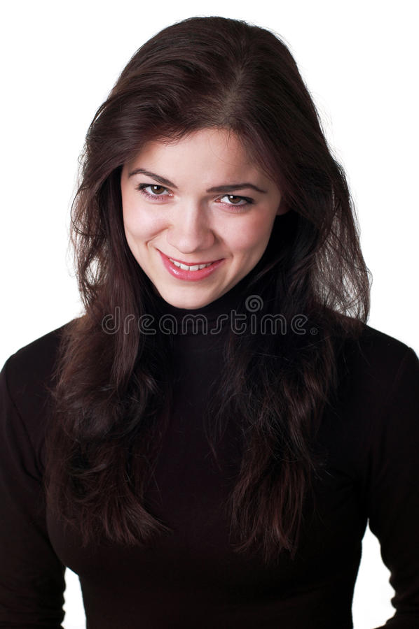 Belle jeune femme de sourire heureuse image stock