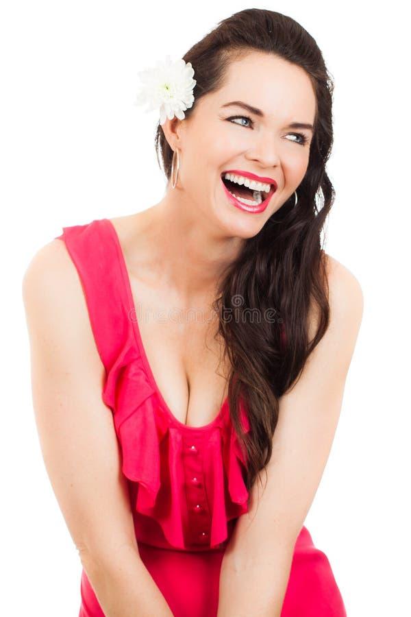 Belle jeune femme riante images libres de droits