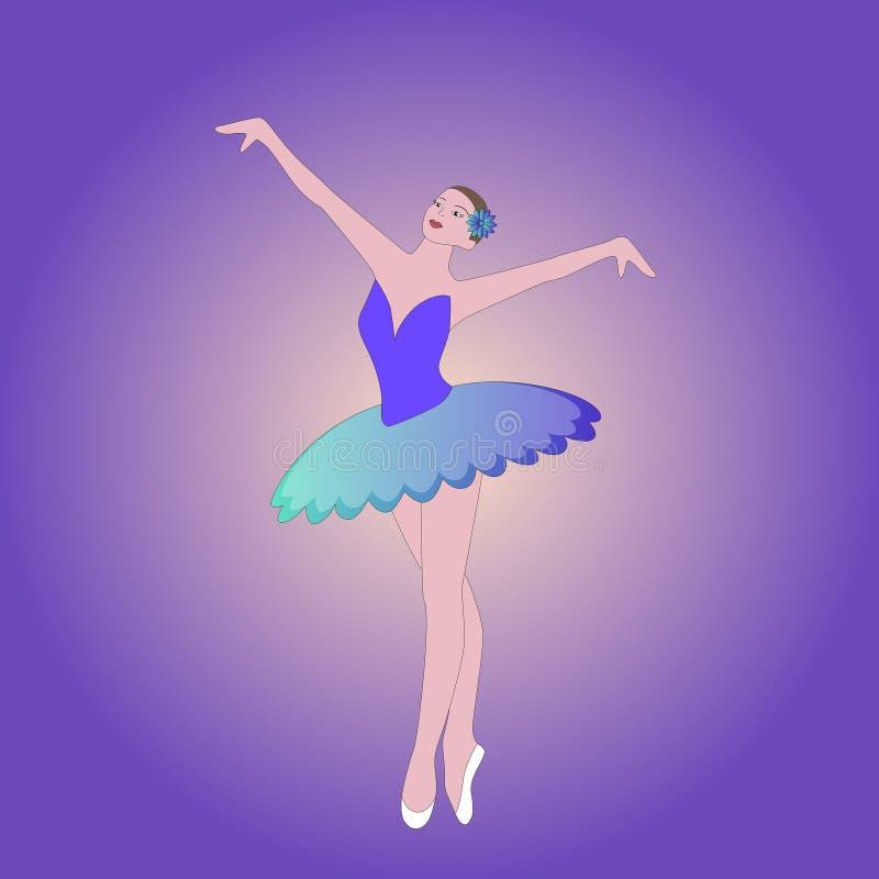 Belle jolie ballerine mince de fille illustration libre de droits