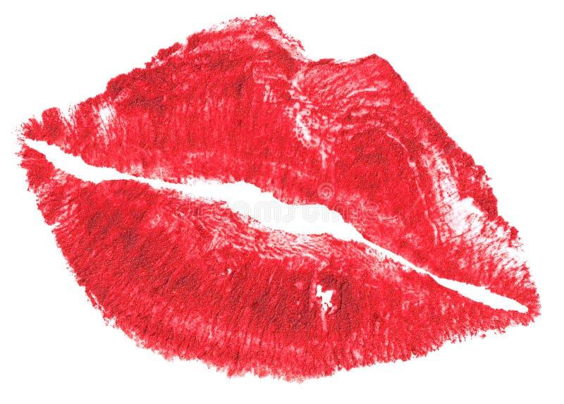 Belle labbra rosse isolate su bianco fotografia stock