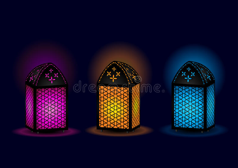 Belle lampade egiziane - vettore illustrazione vettoriale