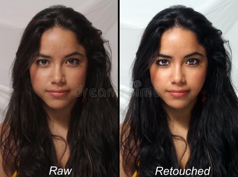 Belle Latina, crue contre retouché photo libre de droits