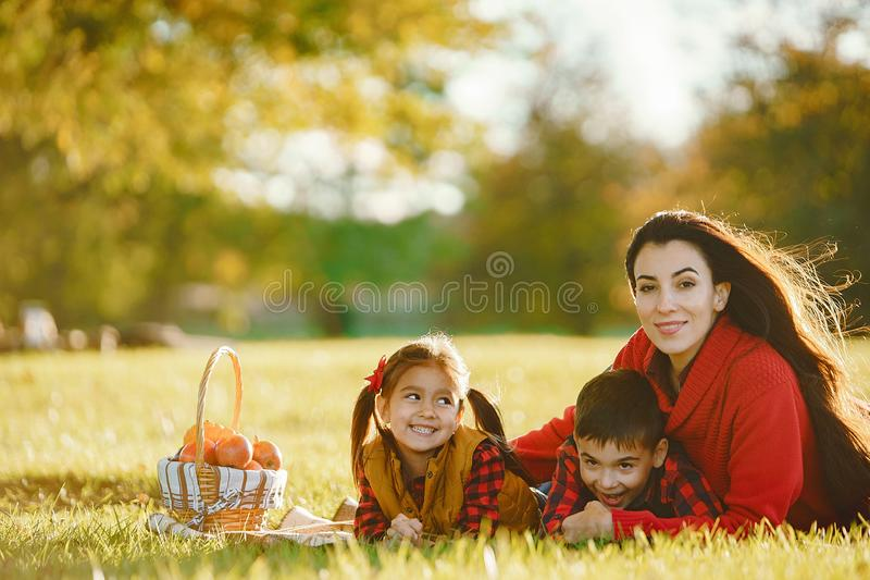 Belle mère avec de petits enfants photo stock