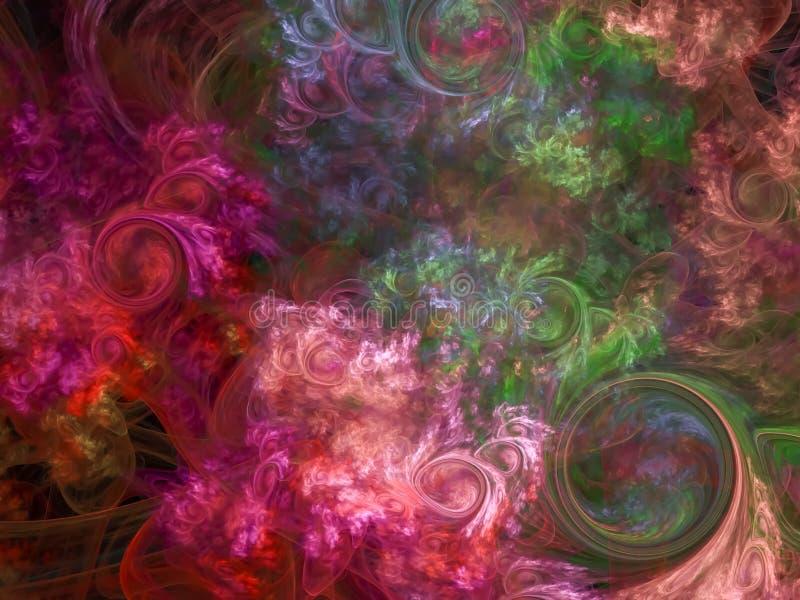 Belle magie de contexte de fractale de concept de partie de beauté de décoration abstraite d'éclaboussure, mouvement d'énergie illustration libre de droits