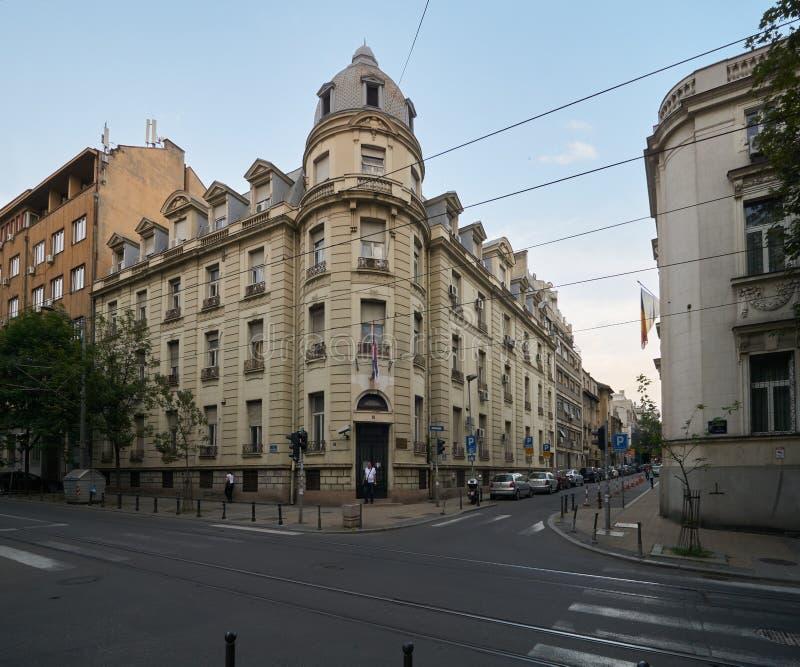Belle maison à Belgrade images stock