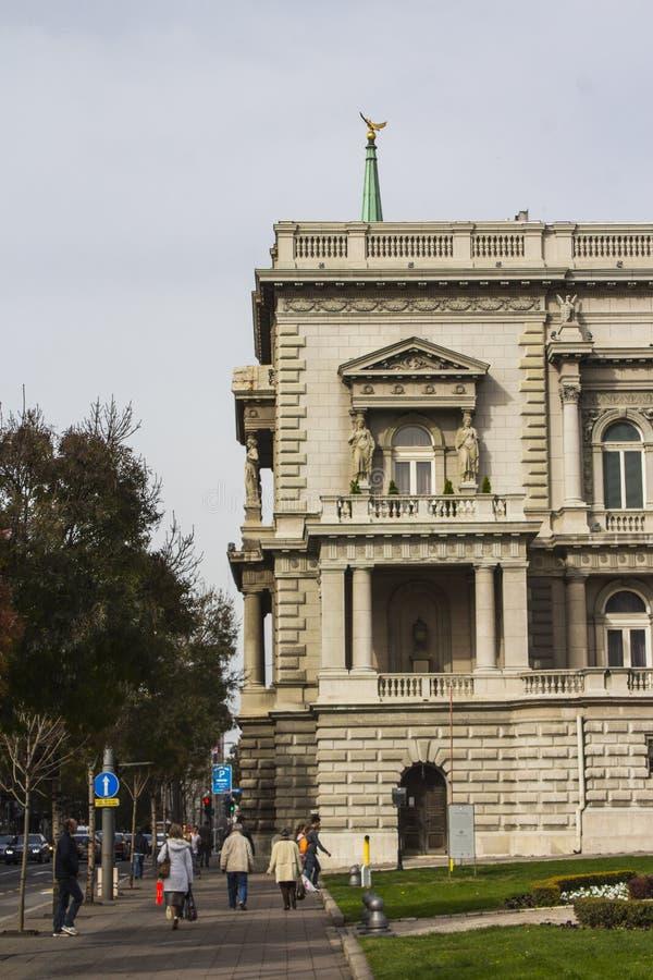 Belle maison au centre de Belgrade serbia image stock
