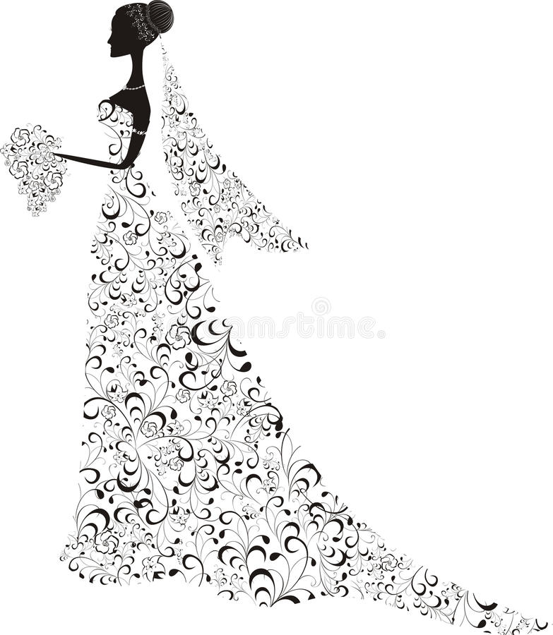 Belle mariée illustration stock
