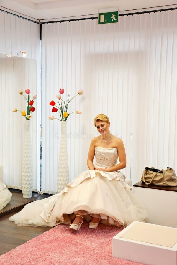 Belle mariée. image libre de droits