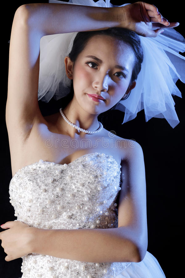 Belle mariée photographie stock libre de droits