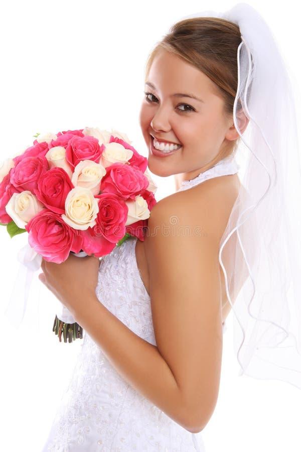 Belle mariée asiatique au mariage photos stock