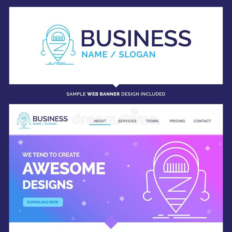 Belle marque Android, bêta, droid, robo de concept d'affaires illustration stock