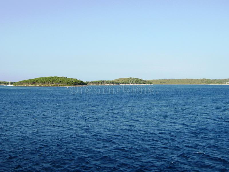 Belle Mer Adriatique, île Solta photo stock