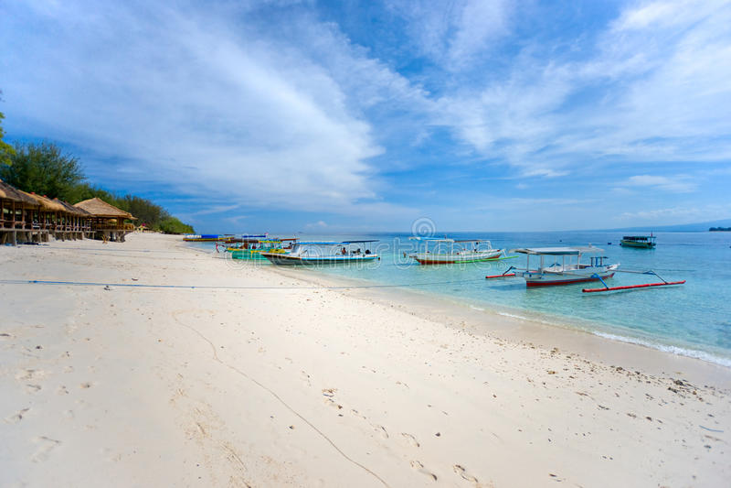 Belle mer chez Gili Meno, Indonésie. images stock