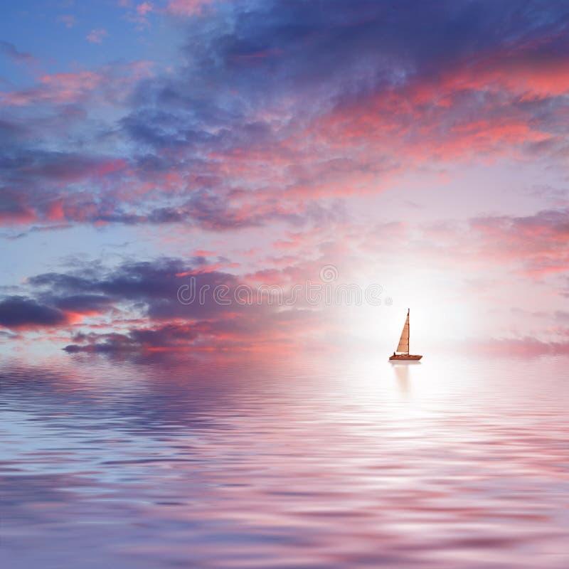 Belle mer scénique illustration de vecteur