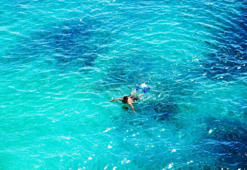 Belle mer Vue supérieure photographie stock libre de droits