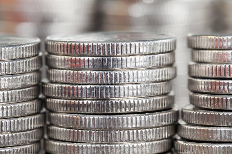 belle monete d'argento fotografia stock libera da diritti