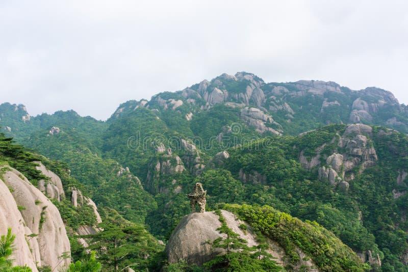 Belle montagne de Huangshan en Chine photographie stock