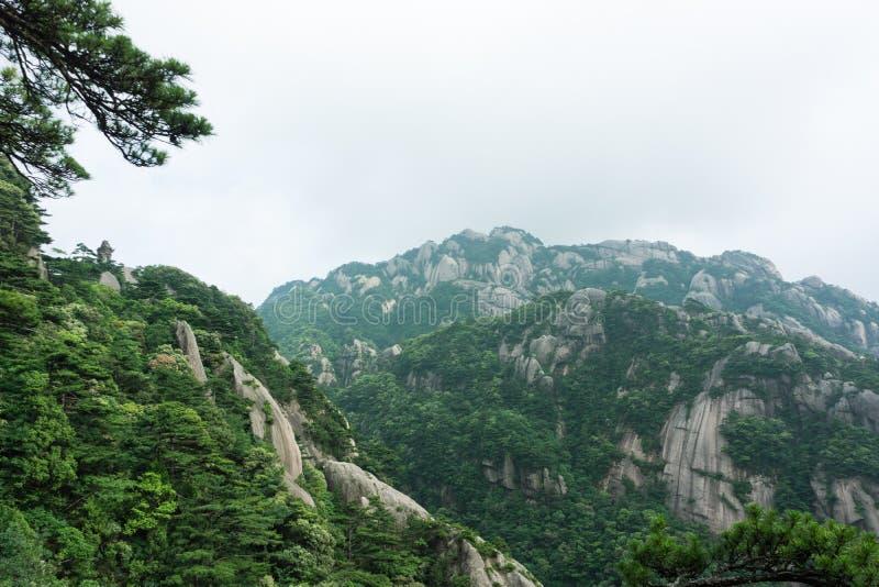 Belle montagne de Huangshan en Chine photos libres de droits