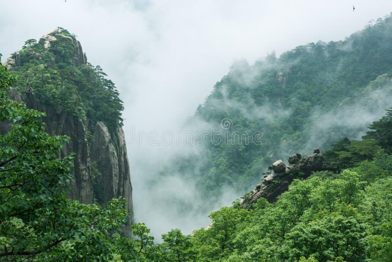 Belle montagne de Huangshan en Chine image libre de droits