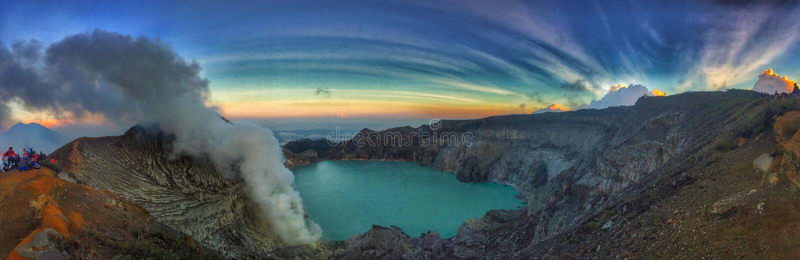 Belle montagne de Kawah Ijen photo stock