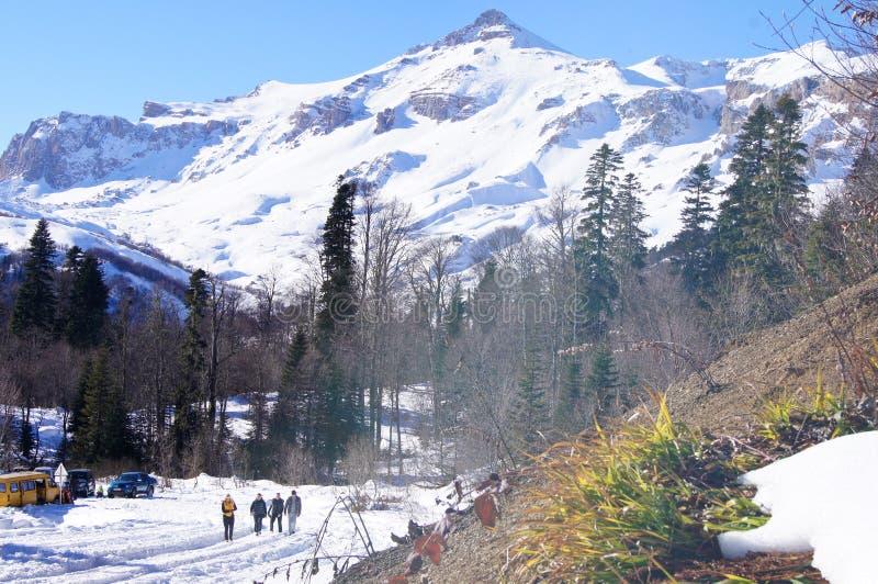 Belle montagne del nord - Caucaso occidentale Adygea fotografie stock libere da diritti