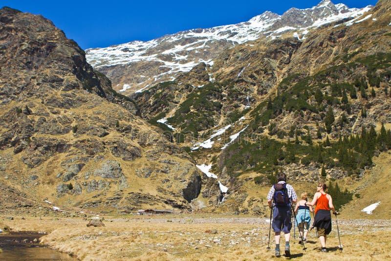 Belle montagne e paesaggio georgous fotografia stock