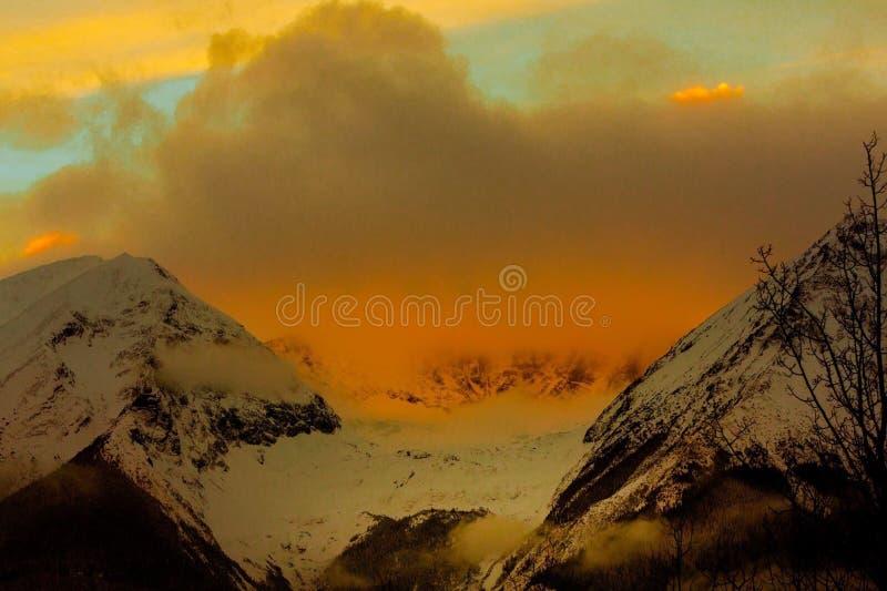 Belle montagne scénique image libre de droits
