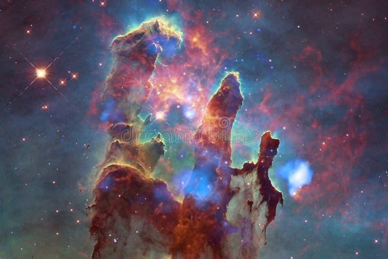 Belle nébuleuse, starfield, groupe d'étoiles dans l'espace extra-atmosphérique photos libres de droits