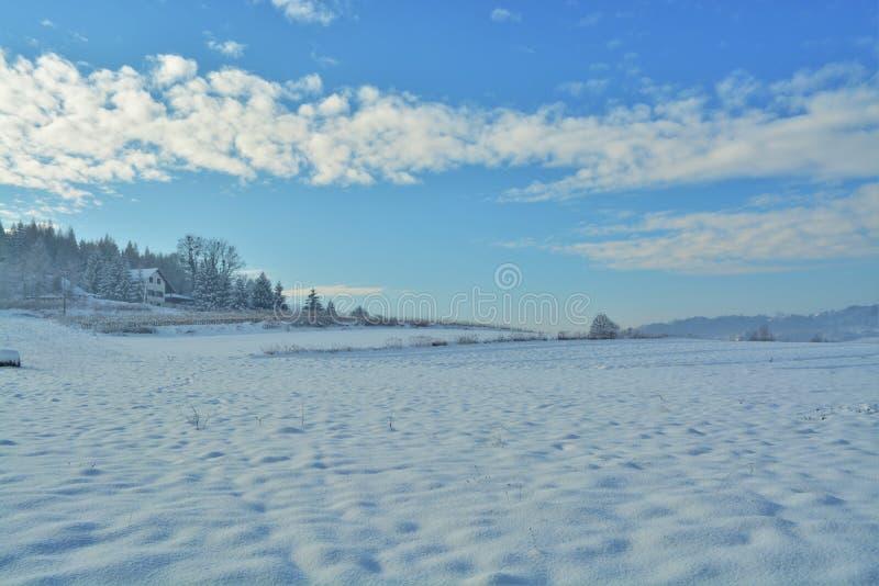 belle neige de ski d'horizontal de destination images libres de droits