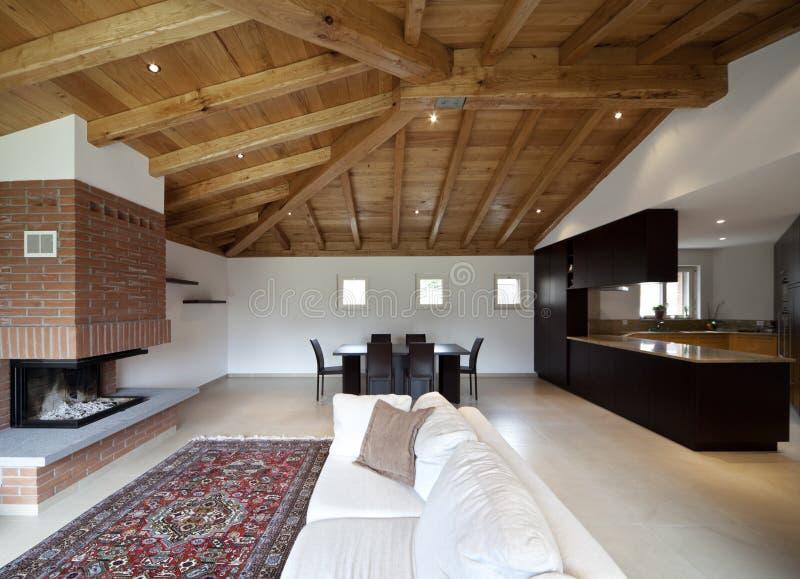 Belle nouvelle maison, intérieur moderne photos libres de droits