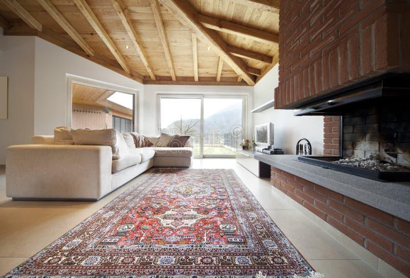 Belle nouvelle maison, intérieur moderne images libres de droits