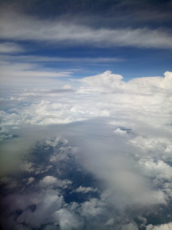 Belle nubi nel cielo immagini stock