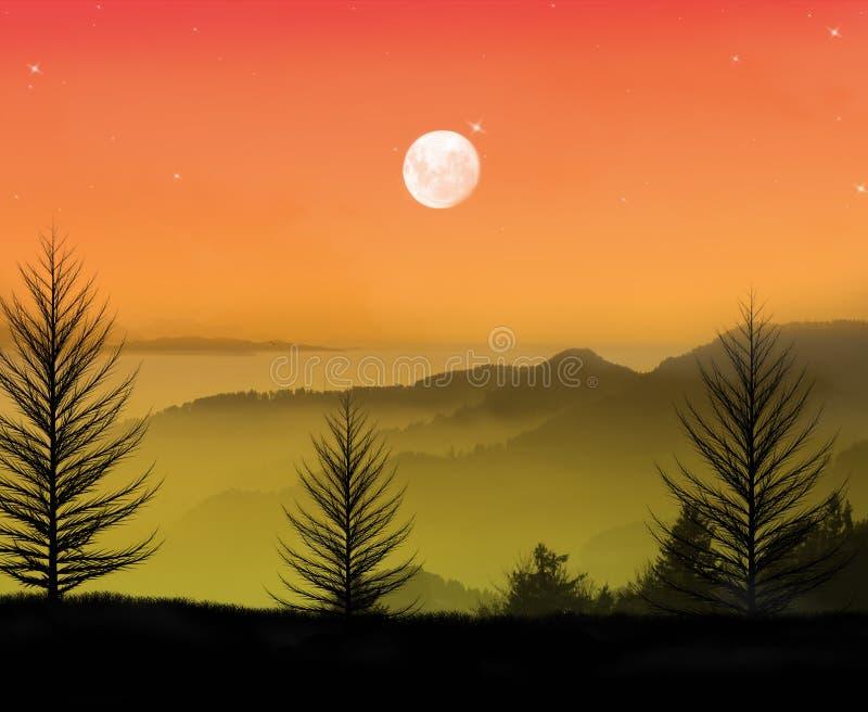 Belle nuit calme images stock