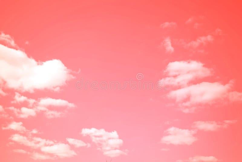 Belle nuvole rosa fotografia stock