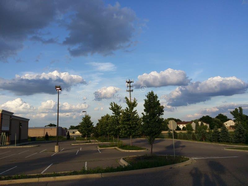 Belle nuvole scure immagine stock libera da diritti