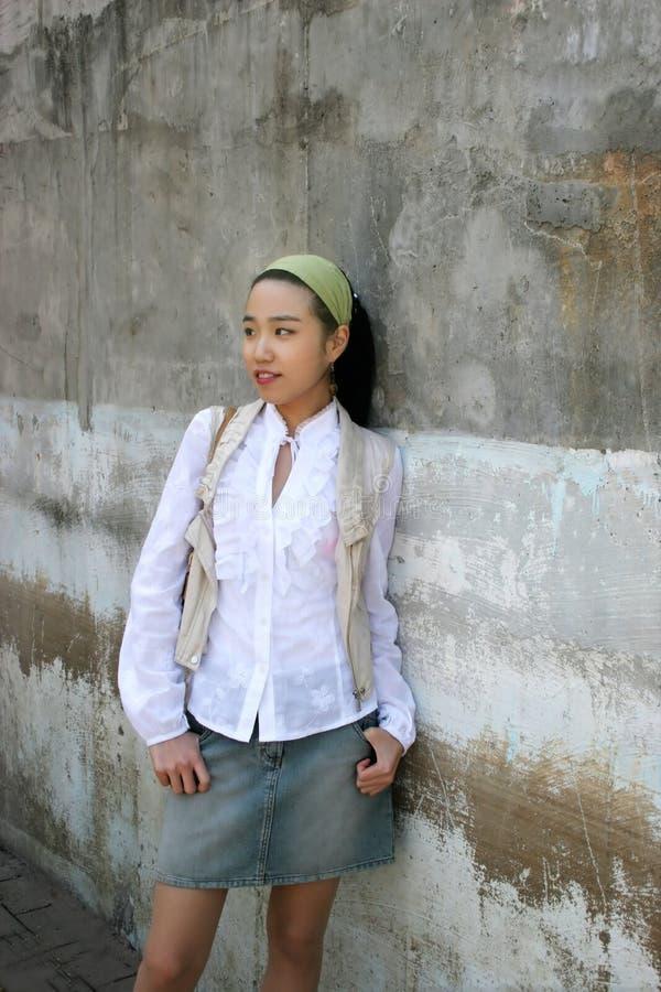 Belle orientation femme-douce asiatique images libres de droits