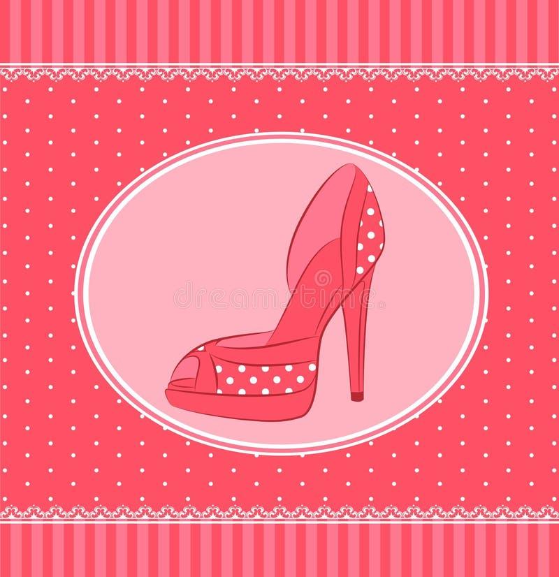Belle paire de chaussures avec le haut talon illustration de vecteur
