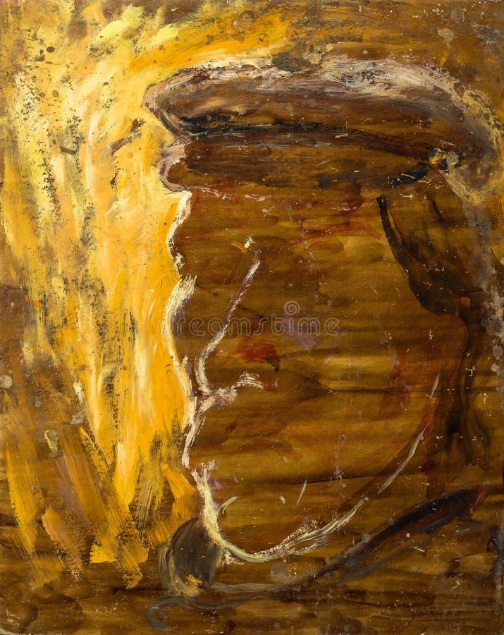 Belle peinture à l'huile originale avec le fantôme du capitaine image stock