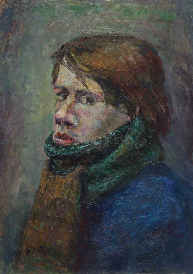 Belle peinture à l'huile originale avec les hommes images libres de droits