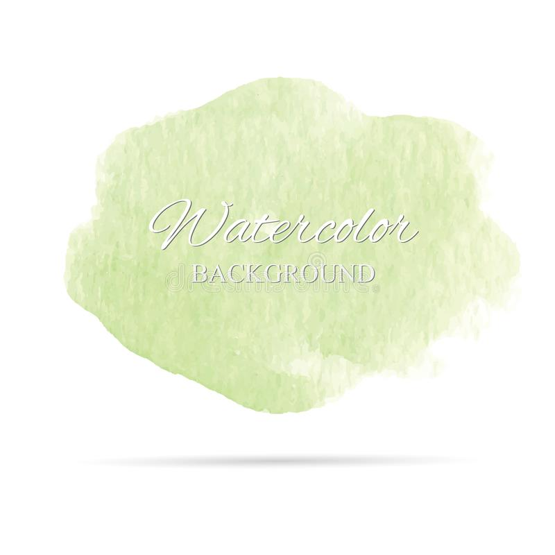 Belle peinture abstraite de main d'art d'aquarelle sur le fond blanc, textures de brosse pour le logo images libres de droits