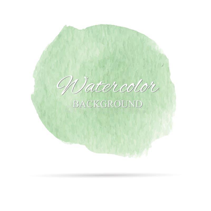 Belle peinture abstraite de main d'art d'aquarelle sur le fond blanc, textures de brosse pour le logo image stock