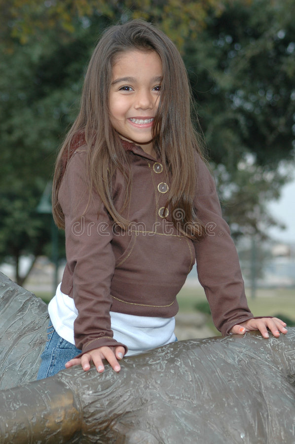 Belle petite fille photographie stock