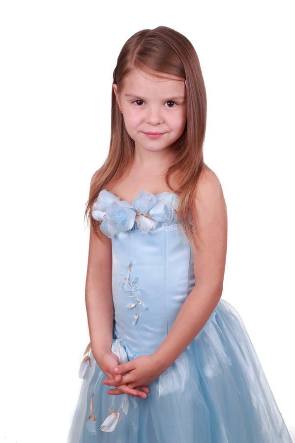 Belle petite fille dans la robe de princesse. photo stock