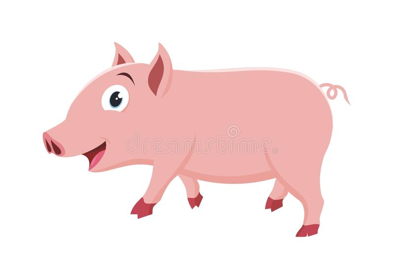 Belle petite illustration de porc illustration libre de droits