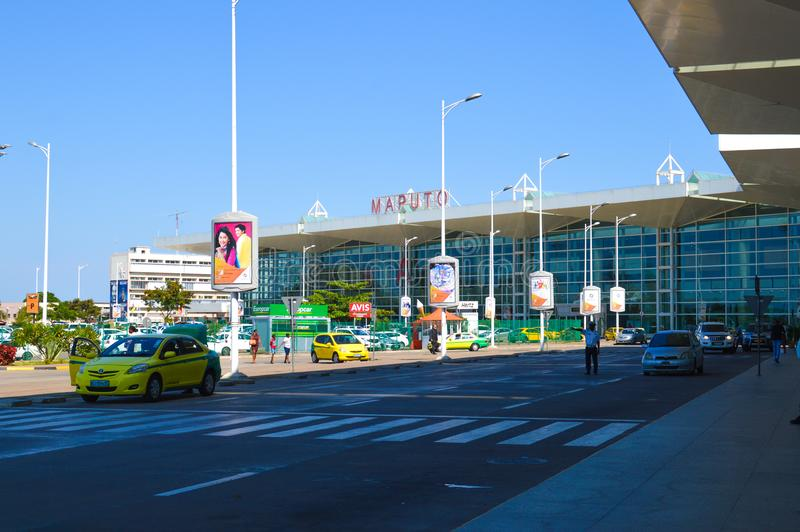 Belle photo d'aéroport international de Maputo photos stock