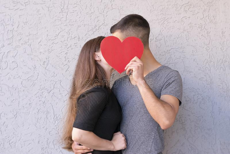 Belle photo de deux amants images libres de droits
