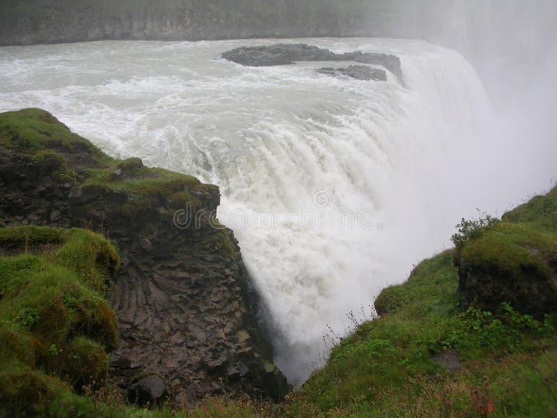 Belle photo vibrante de panorama avec une vue sur la cascade islandaise dans des gullfoss de goddafoss de l'Islande photographie stock